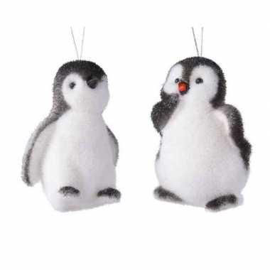 1x kersthangers figuurtjes pinguin 9 cm
