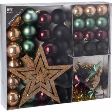 Kerstboom decoratie set 45 delig seasons classics