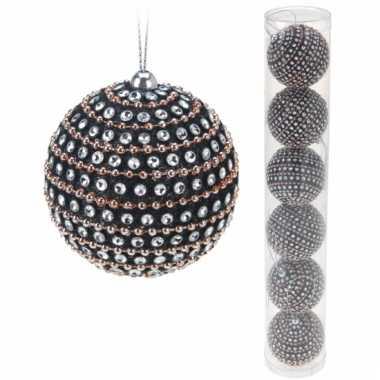 Koker met 6 luxe kerstballen