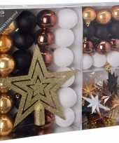 Kerstboom decoratie set 45 delig woods classics