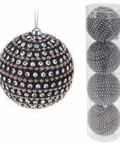 Koker met 4 luxe kerstballen